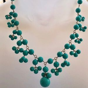 Silver Tone Beaded Necklace